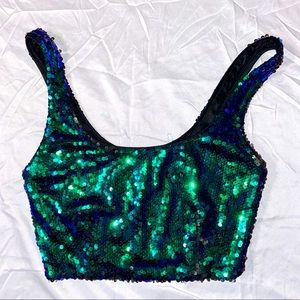 Forever 21 Sequin Top EUC Sz Small